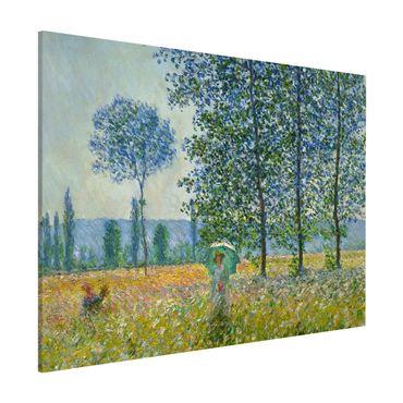 Magnettafel - Claude Monet - Felder im Frühling - Memoboard Querformat 3:4
