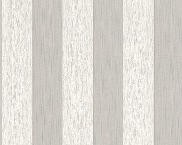 Architects Paper Streifentapete Tessuto 2 in Beige, Creme