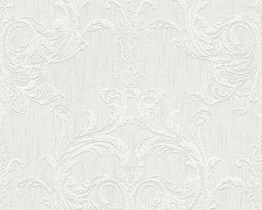 Architects Paper Mustertapete Tessuto 2 in Grau, Weiß