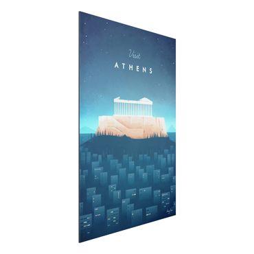 Aluminium Print - Reiseposter - Athen - Hochformat 3:2