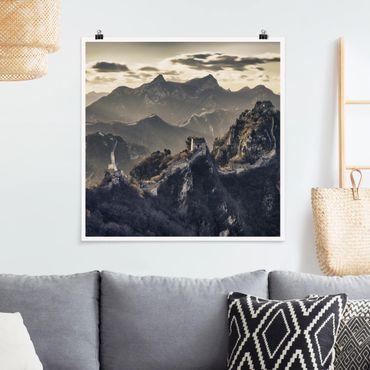 Poster - Die große chinesische Mauer - Quadrat 1:1