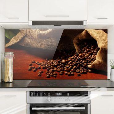 Spritzschutz Glas - Dulcet Coffee - Querformat - 2:1