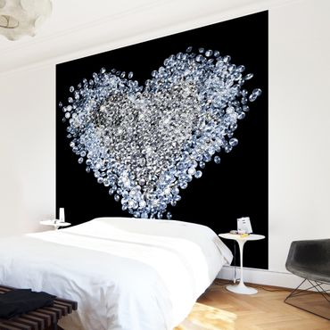 Fototapete Diamant Herz