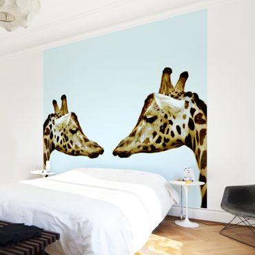 Fototapete Giraffes in Love