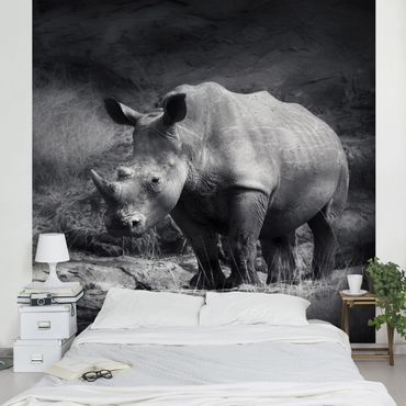 Fototapete Lonesome Rhinoceros
