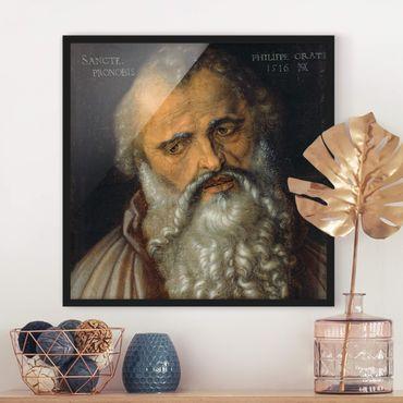 Bild mit Rahmen - Albrecht Dürer - Der Apostel Philippus - Quadrat 1:1