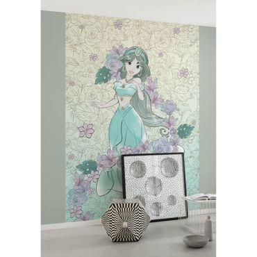 Disney Kindertapete - Jasmin Pale Flowers - Komar Fototapete