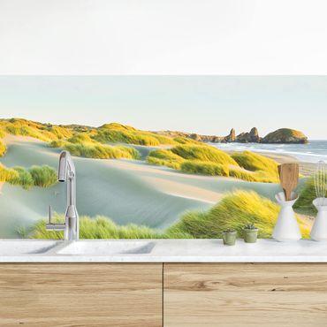 Küchenrückwand - Dünen und Gräser am Meer