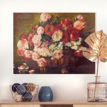 Leinwandbild - Auguste Renoir - Stillleben mit Pfingstrosen - Querformat 3:4
