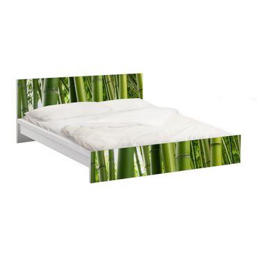 Möbelfolie für IKEA Malm Bett niedrig 180x200cm - Klebefolie Bamboo Trees No.1