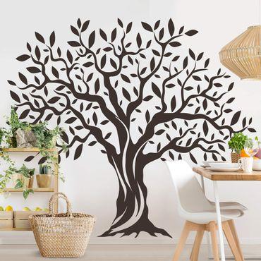 Wandtattoo - Olivenbaum mit Blättern