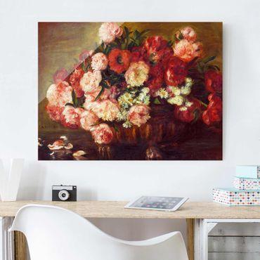 Glasbild - Auguste Renoir - Stillleben mit Pfingstrosen - Querformat 3:4