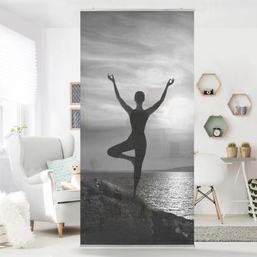 Raumteiler - Yoga schwarz weiss 250x120cm
