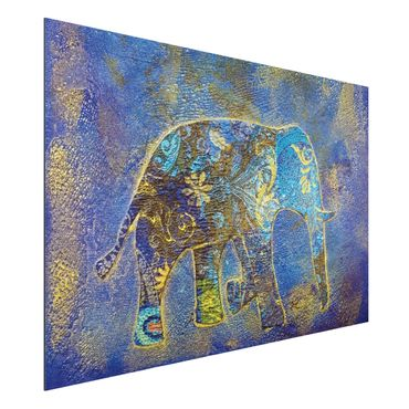 Alu-Dibond Bild - Elephant in Marrakech