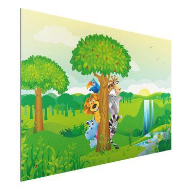 Alu-Dibond Bild - Dschungeltiere