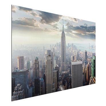 Alu-Dibond Bild - Sonnenaufgang in New York