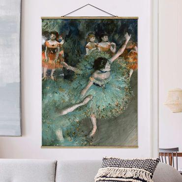 Stoffbild mit Posterleisten - Edgar Degas - Tänzerinnen in Grün - Hochformat 4:3