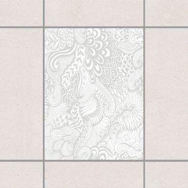 Fliesenaufkleber - Poseidons Garten Light Grey Grau