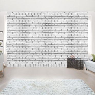 Schiebegardinen Set - London weiß - Flächenvorhänge
