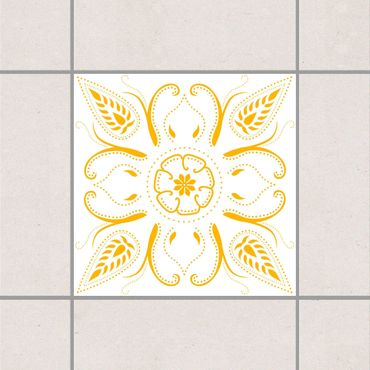 Fliesenaufkleber - Bandana White Melon Yellow Gelb