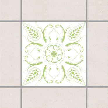 Fliesenaufkleber - Bandana White Spring Green Grün