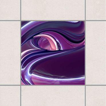 Fliesenaufkleber - Circles in Purple