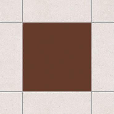Fliesenaufkleber - Colour Chocolate Braun