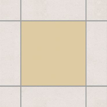 Fliesenaufkleber - Colour Light Brown Braun