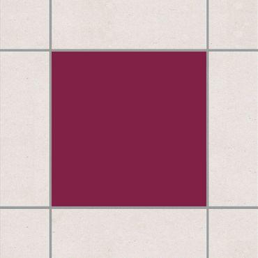 Fliesenaufkleber - Colour Wine Red