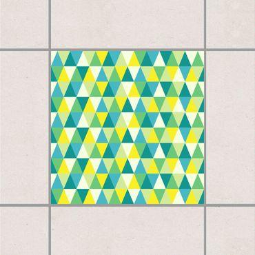 Fliesenaufkleber - Dreiecke Grün