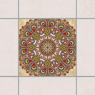Fliesenaufkleber - Farbiges Mandala