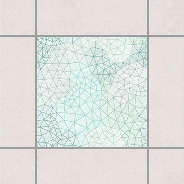 Fliesenaufkleber - Feines Spinnennetz