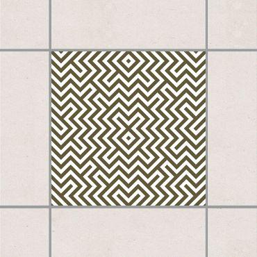 Fliesenaufkleber - Geometrisches Design Braun