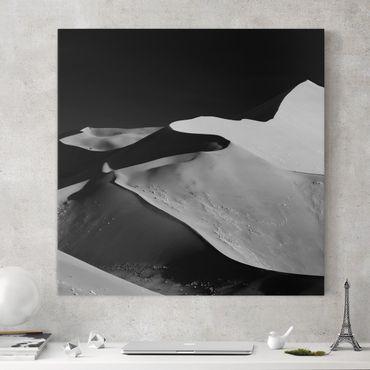 Leinwandbild - Wüste - Abstrakte Dünen - Quadrat 1:1