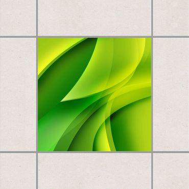 Fliesenaufkleber - Green Composition Grün