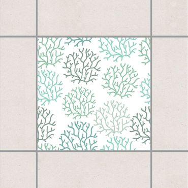 Fliesenaufkleber - Korallen Frühling