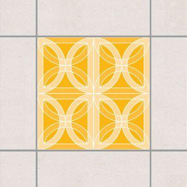 Fliesenaufkleber - Kreisförmiges Fliesendesign Melon Yellow