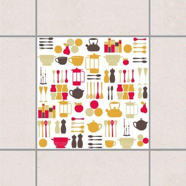 Fliesenaufkleber - Küchenfee Pink