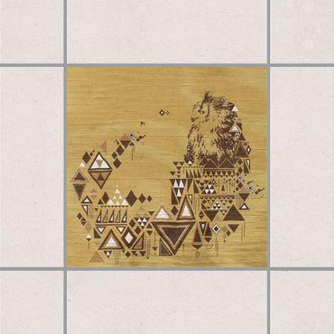 Fliesenaufkleber - No.MW17 Indianische Eule