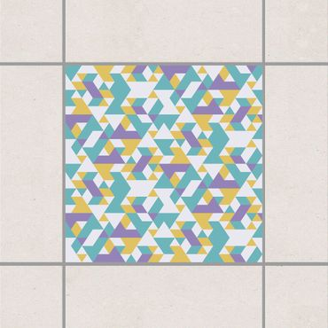 Fliesenaufkleber - No.RY33 Lilac Triangles