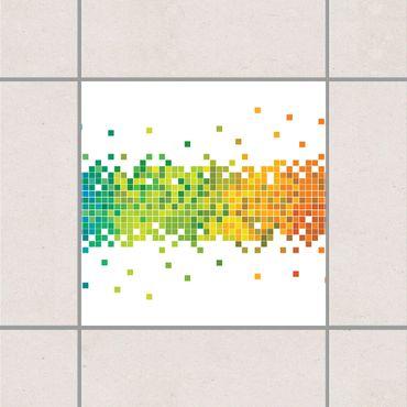 Fliesenaufkleber - Pixel-Regenbogen