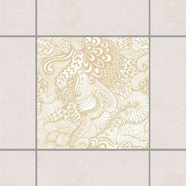 Fliesenaufkleber - Poseidons Garten Light Brown Braun