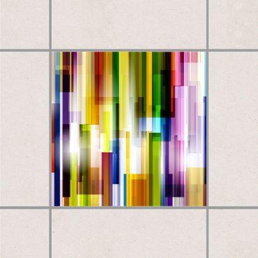 Fliesenaufkleber - Rainbow Cubes