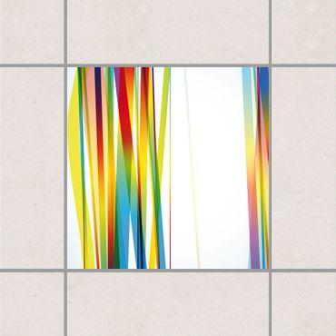 Fliesenaufkleber - Rainbow Stripes