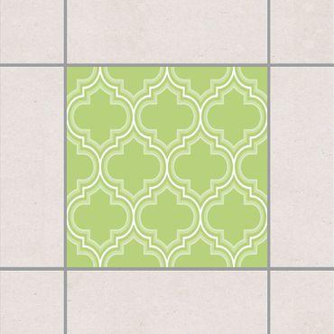 Fliesenaufkleber - Retro Marokko Spring Green Grün