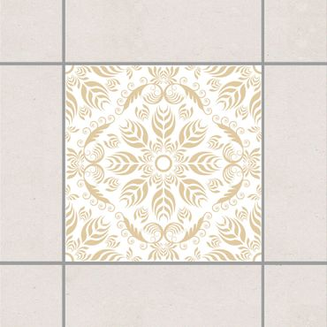 Fliesenaufkleber - Rosamunde White Light Brown Braun