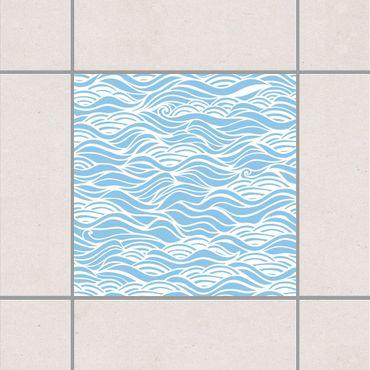 Fliesenaufkleber - Sie träumten von zarten Wellen am Meer Light Blue