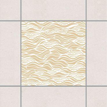 Fliesenaufkleber - Sie träumten von zarten Wellen am Meer Light Brown Braun