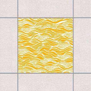 Fliesenaufkleber - Sie träumten von zarten Wellen am Meer Melon Yellow Gelb