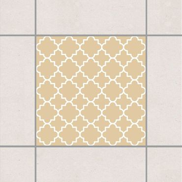 Fliesenaufkleber - Traditional Quatrefoil Light Brown Braun